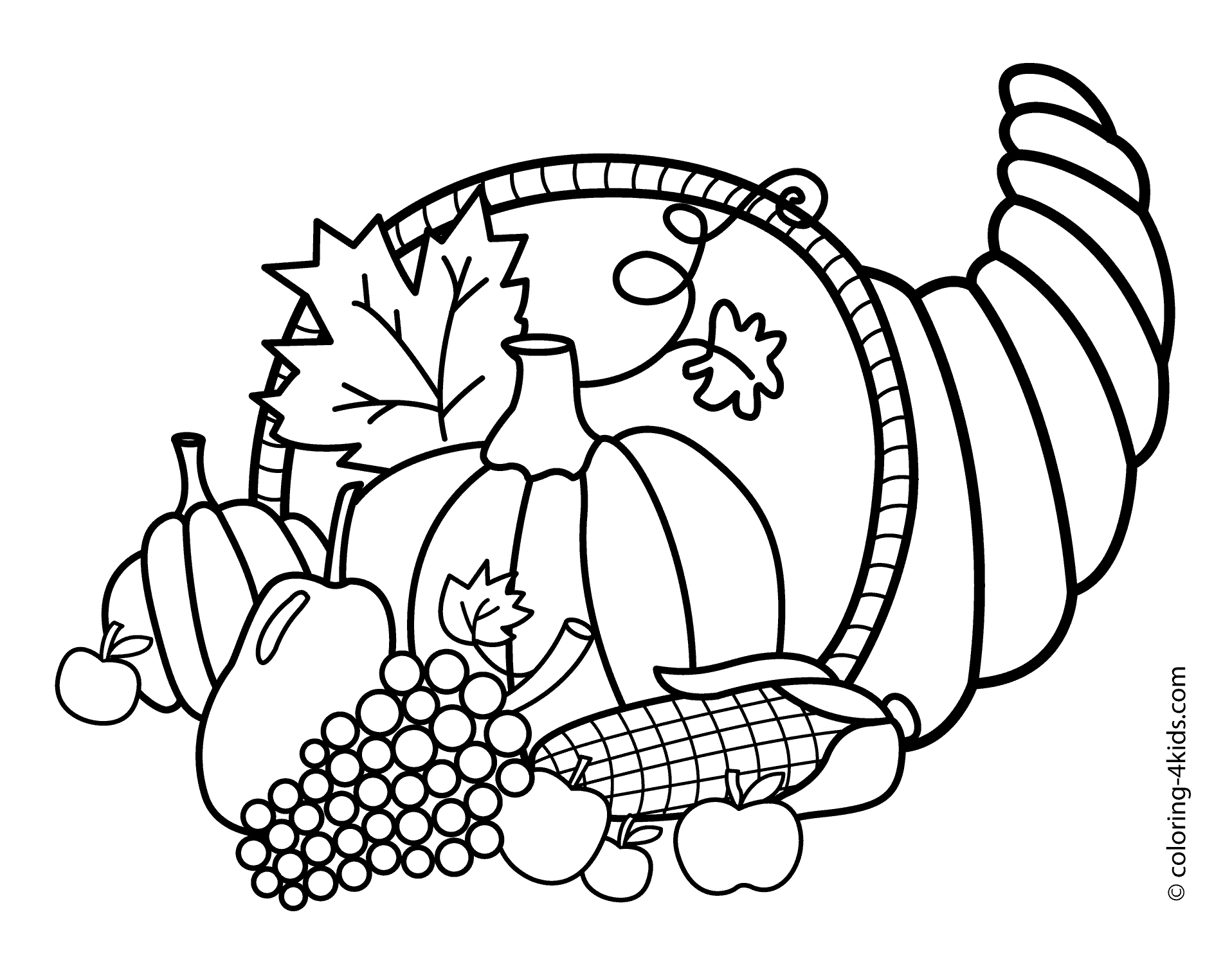 Coloring Ideas : Coloring Pages Of Thanksgiving Print Color Craft | Free Printable Thanksgiving Coloring Pages Worksheets