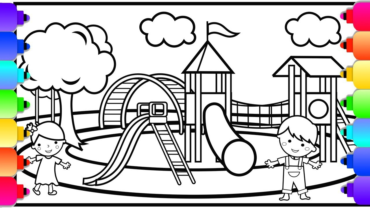 Coloring ~ Printable Coloring Pages For Kids Playground With Free | Free Printable Playground Coloring Worksheets