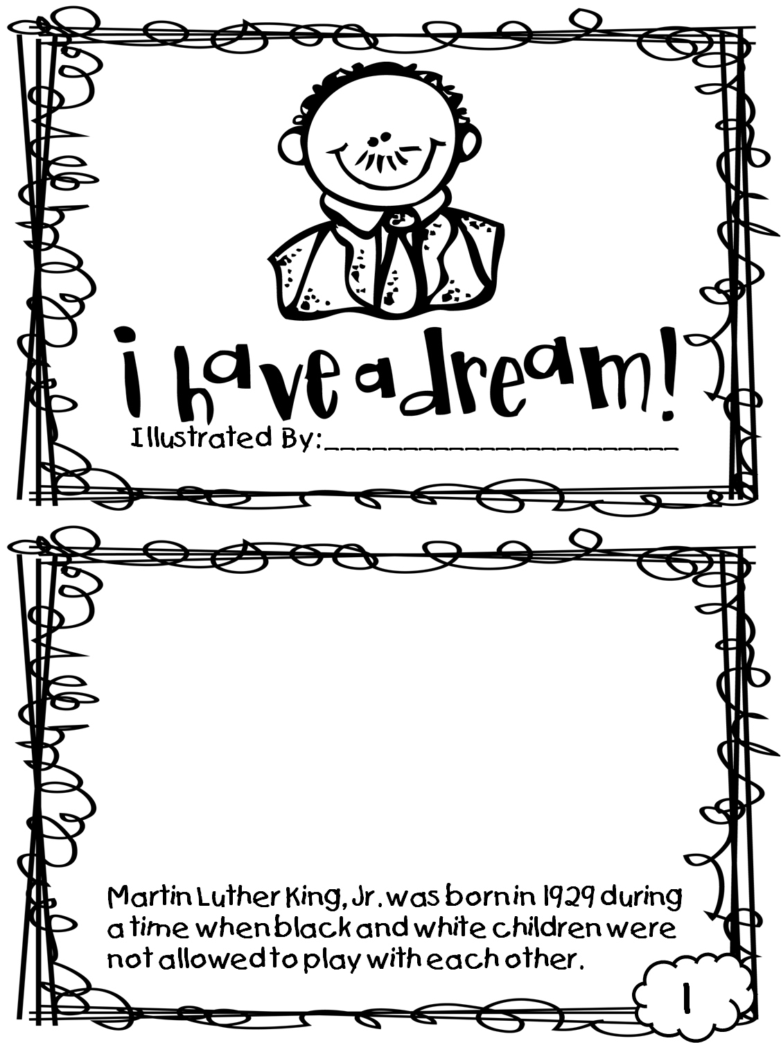 Coloring ~ This Free Worksheet About Martin Luther King Day Covers | Free Printable Martin Luther King Worksheets For Kindergarten