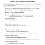 Combining Compound Sentences Worksheet Part 1 | Worksheets | Simple | Free Printable Types Of Sentences Worksheets