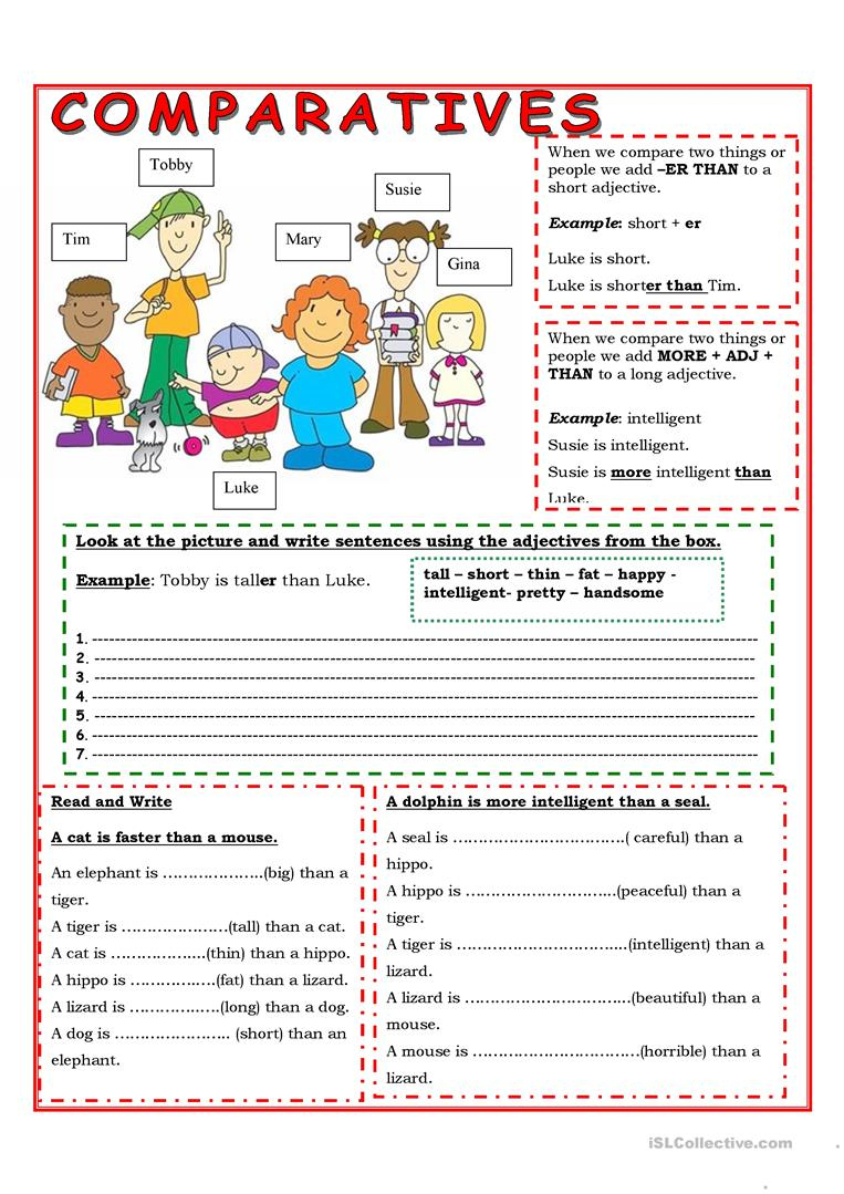 Comparatives Worksheet - Free Esl Printable Worksheets Madeteachers | Comparative Worksheets Printable