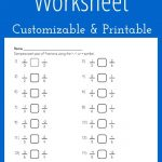 Comparing Fractions Worksheet   Customizable And Printable | Math | Printable Worksheet Maker