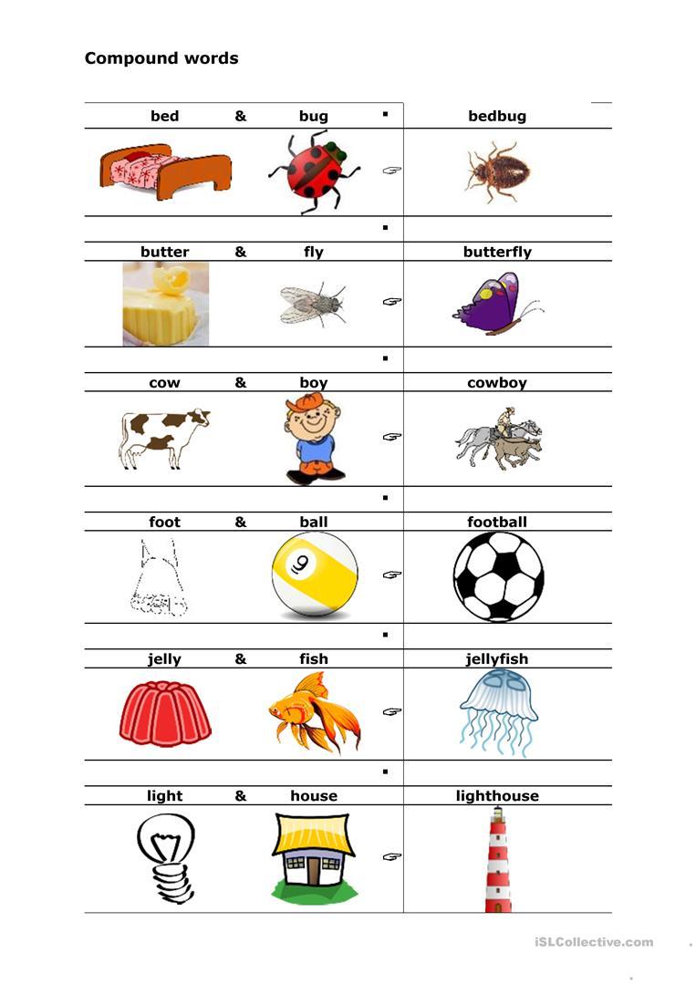 Compound Words Worksheet - Free Esl Printable Worksheets Made | Free Printable Compound Word Worksheets