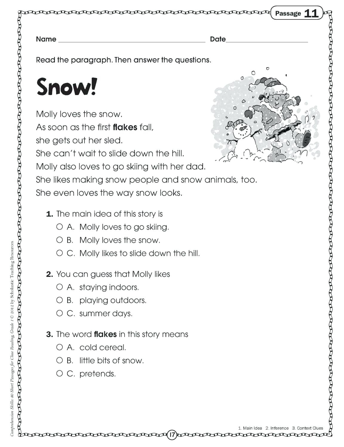 Comprehension Activities For 2Nd Grade Free Printable Reading | Free Printable Reading Comprehension Worksheets For 3Rd Grade