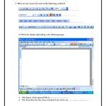 Computer Skills Worksheets   Computer Skills 1 Microsoft Word   Printable Computer Worksheets For Grade 2