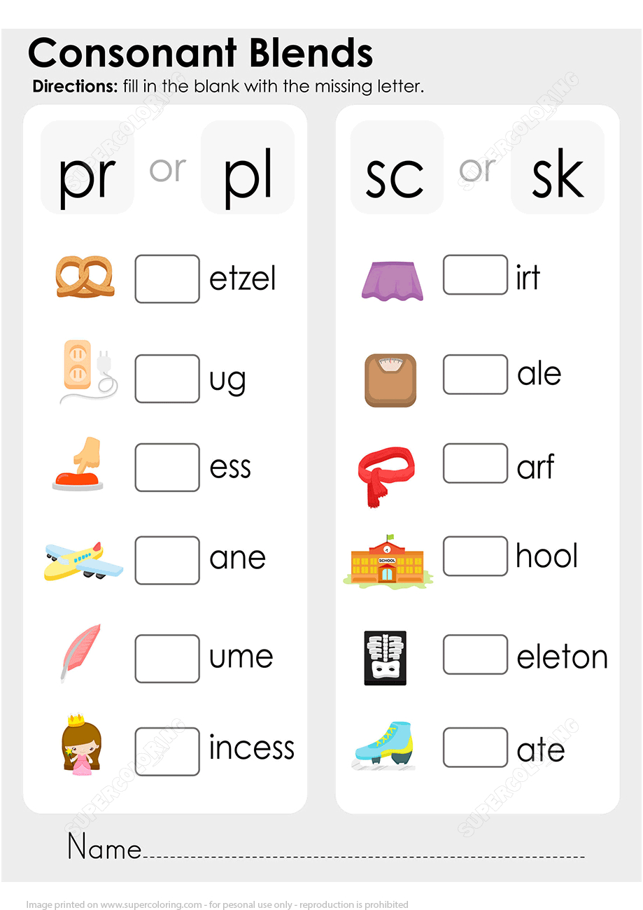 Consonant Blends Worksheet | Free Printable Puzzle Games | Free Printable Consonant Blends Worksheets