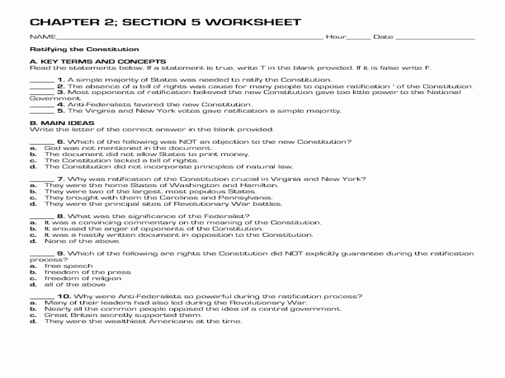 Constitution Worksheets For Middle School New 23 Best United States | Free Printable Us Constitution Worksheets