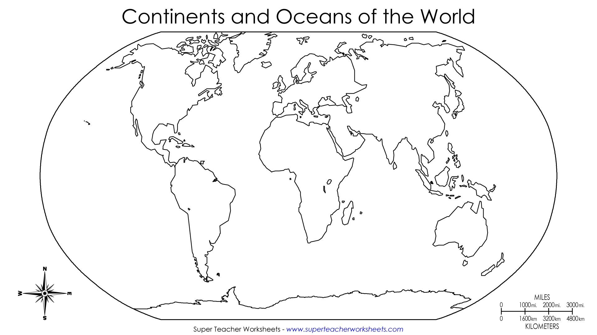 Continents Of The World Worksheets   This Basic World Map Shows The   Free Printable World Map Worksheets