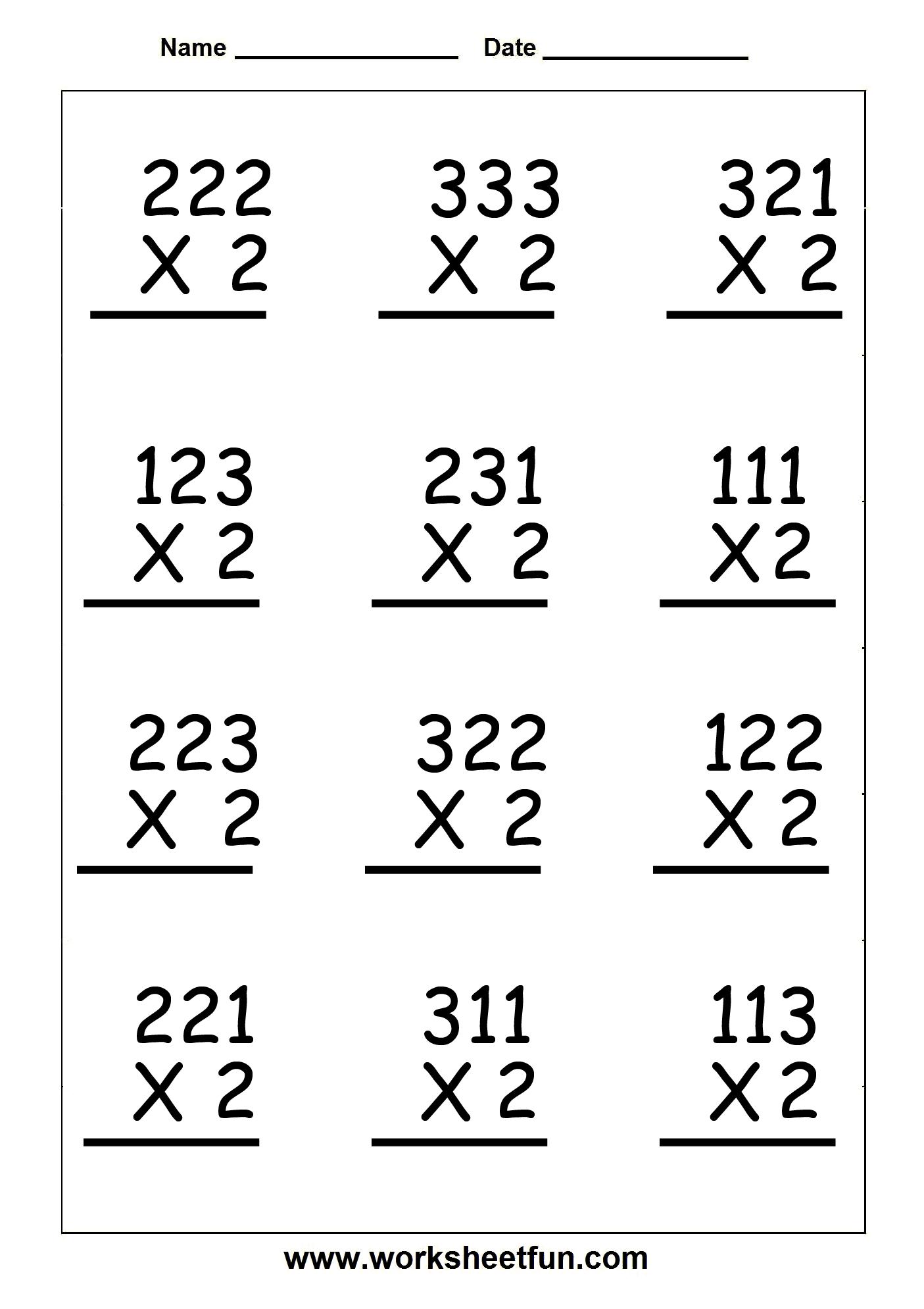 Copy Of Single Digit Multiplication Worksheets - Lessons - Tes Teach | 3 Digit By 1 Digit Multiplication Worksheets Printable