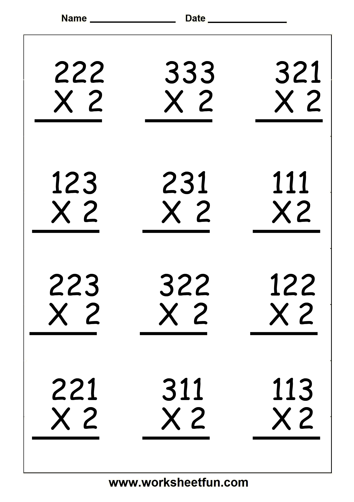 Copy Of Single Digit Multiplication Worksheets - Lessons - Tes Teach | 3 Digit Multiplication Worksheets Printable