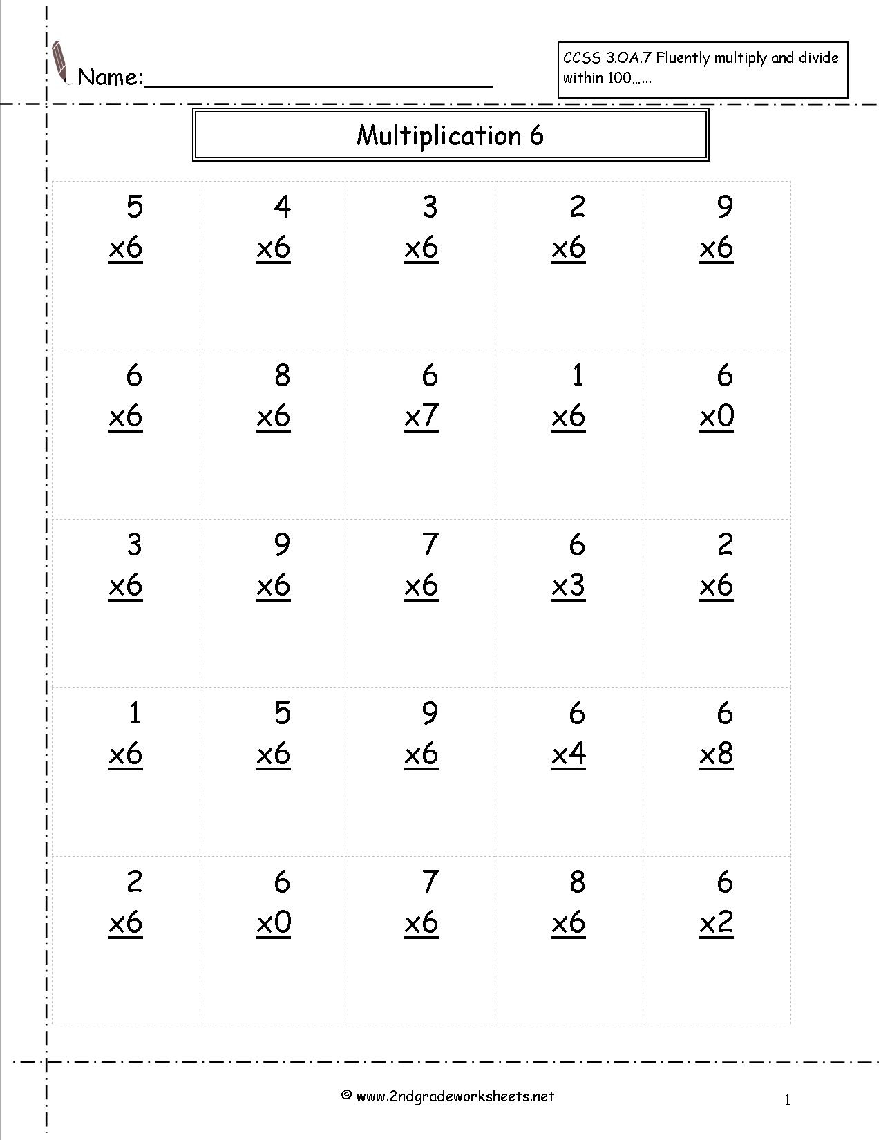 Copy Of Single Digit Multiplication Worksheets - Lessons - Tes Teach | Free Printable Double Digit Multiplication Worksheets