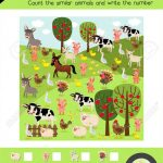 Counting Game Of Farm Animals For Preschool Kids Activity Worksheet   Farm Animals Printable Worksheets