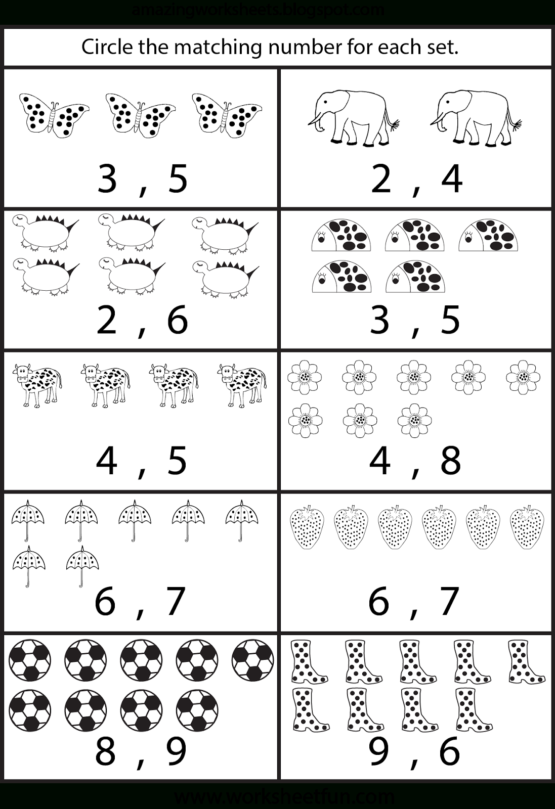 Counting Worksheets For Kindergarten … | Learning | Free … | Free Preschool Counting Worksheets Printable