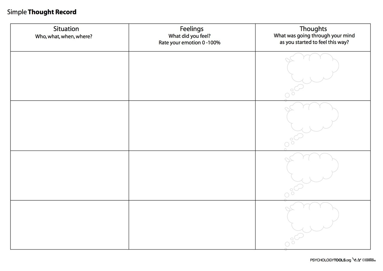 Creative Clinical Social Worker: Downloadable Cognitive Behavioral | Free Printable Counseling Worksheets