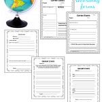 Current Events   The Curriculum Corner 4 5 6 | Current Events Printable Worksheet