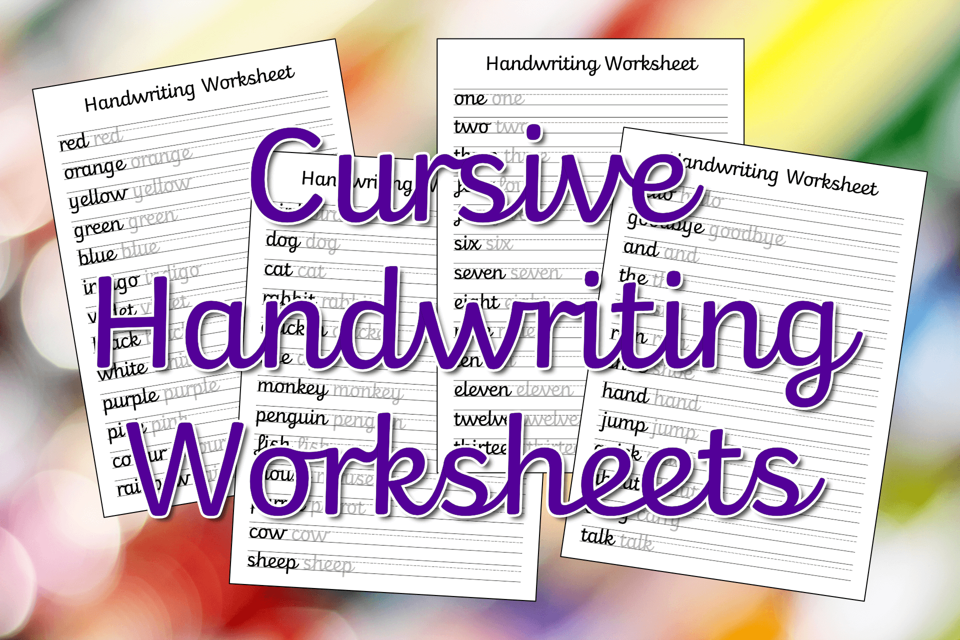 Cursive Handwriting Worksheets – Free Printable! ⋆ Mama Geek | Cursive Writing Words Worksheets Printable