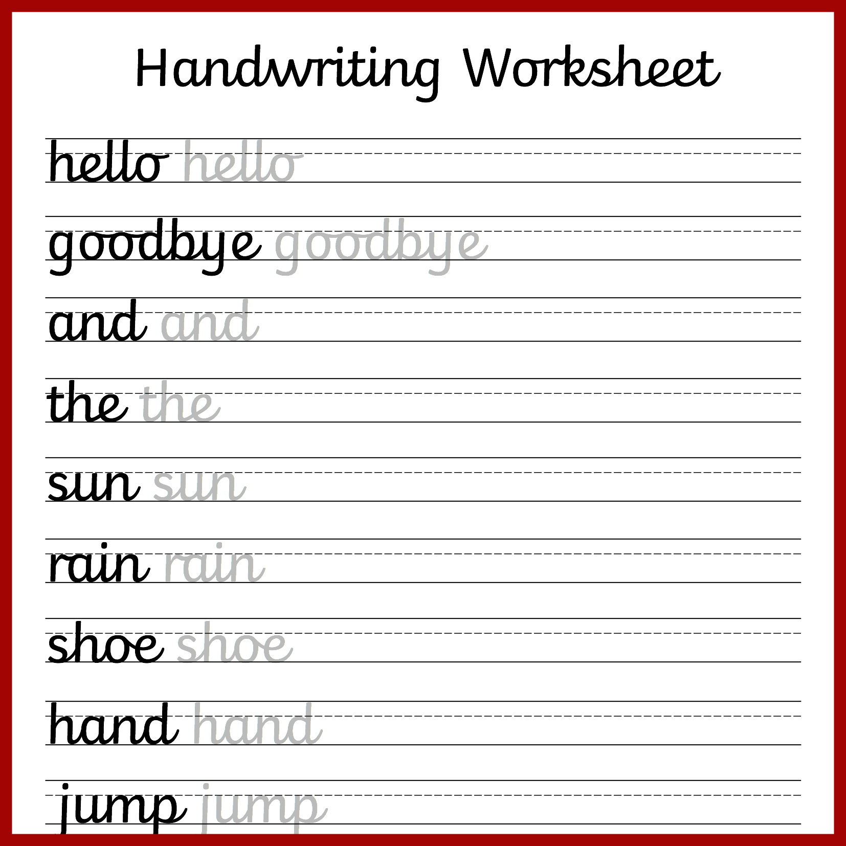 Cursive Handwriting Worksheets – Free Printable! ⋆ Mama Geek | Free Printable Script Writing Worksheets