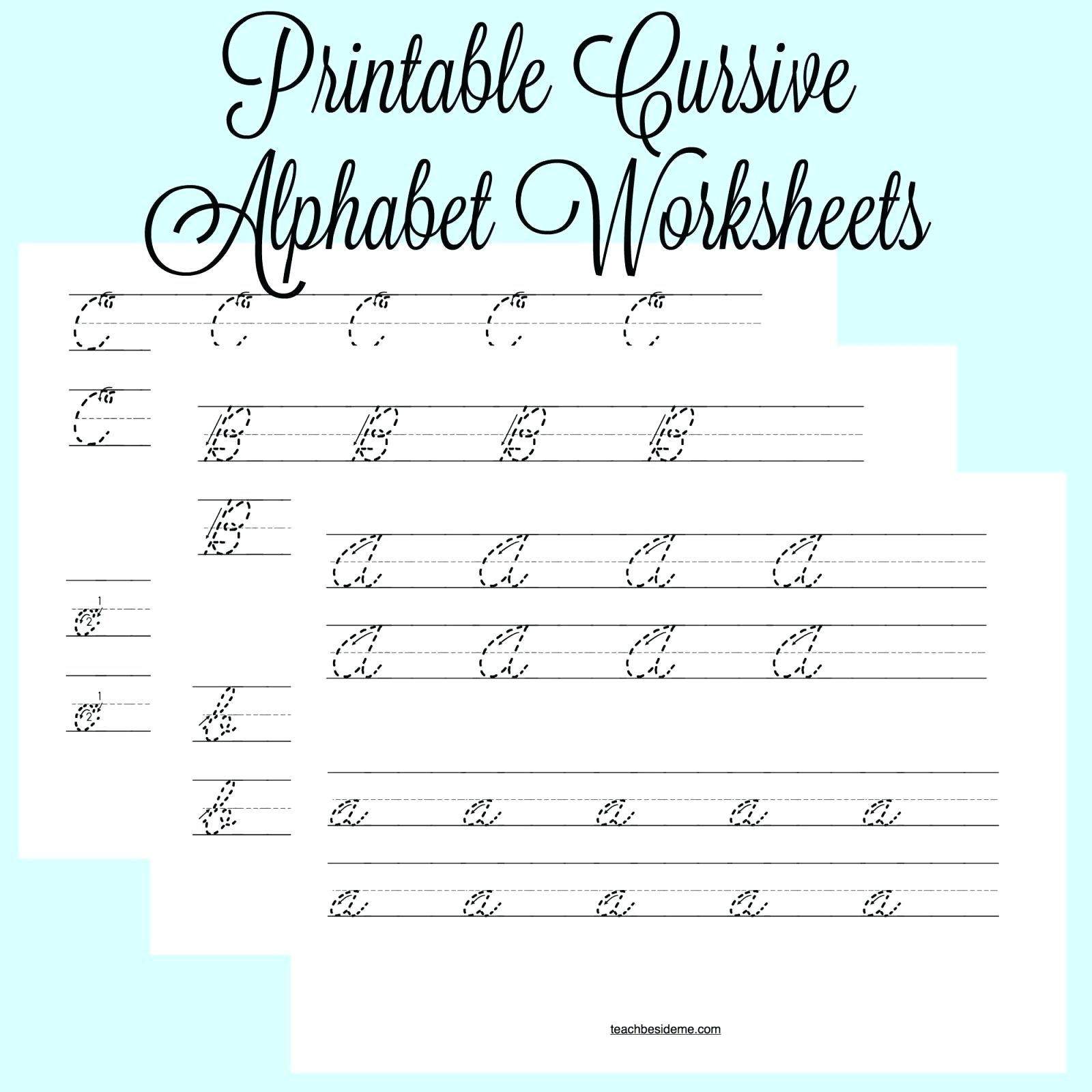 Cursive Writing Alphabets Worksheets – Shoppingfoorme.club | Cursive Writing Worksheets Printable Capital Letters