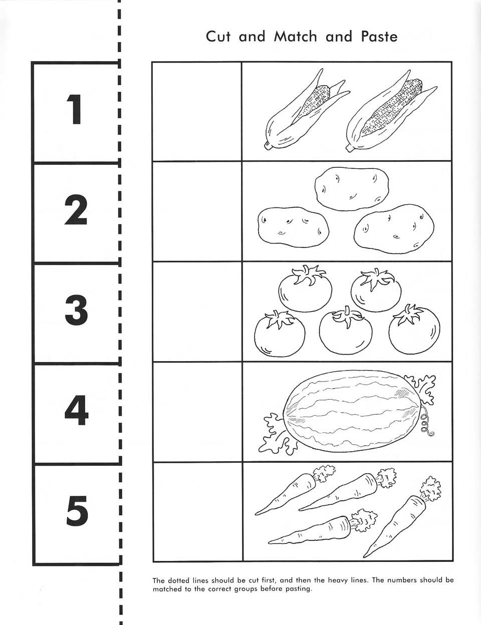 Cut, Count, Match And Paste / Free Printable | Pre-K Math | Free Printable Kindergarten Worksheets Cut And Paste