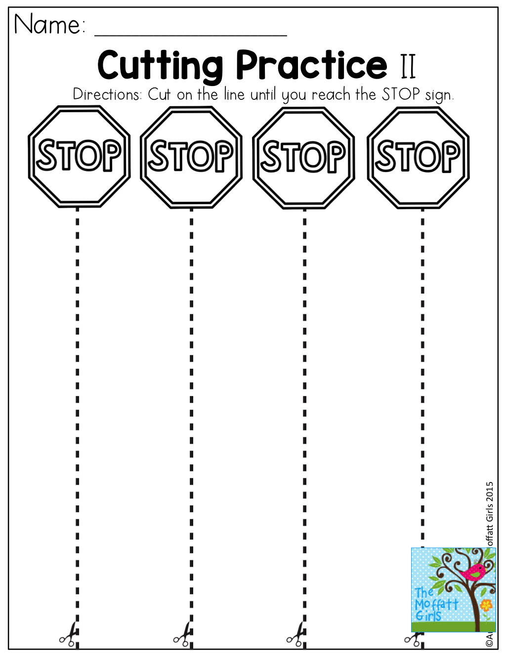 Cutting Practice! Tons Of Fun, Effective And Hands-On Resources For | Free Printable Cutting Worksheets For Kindergarten