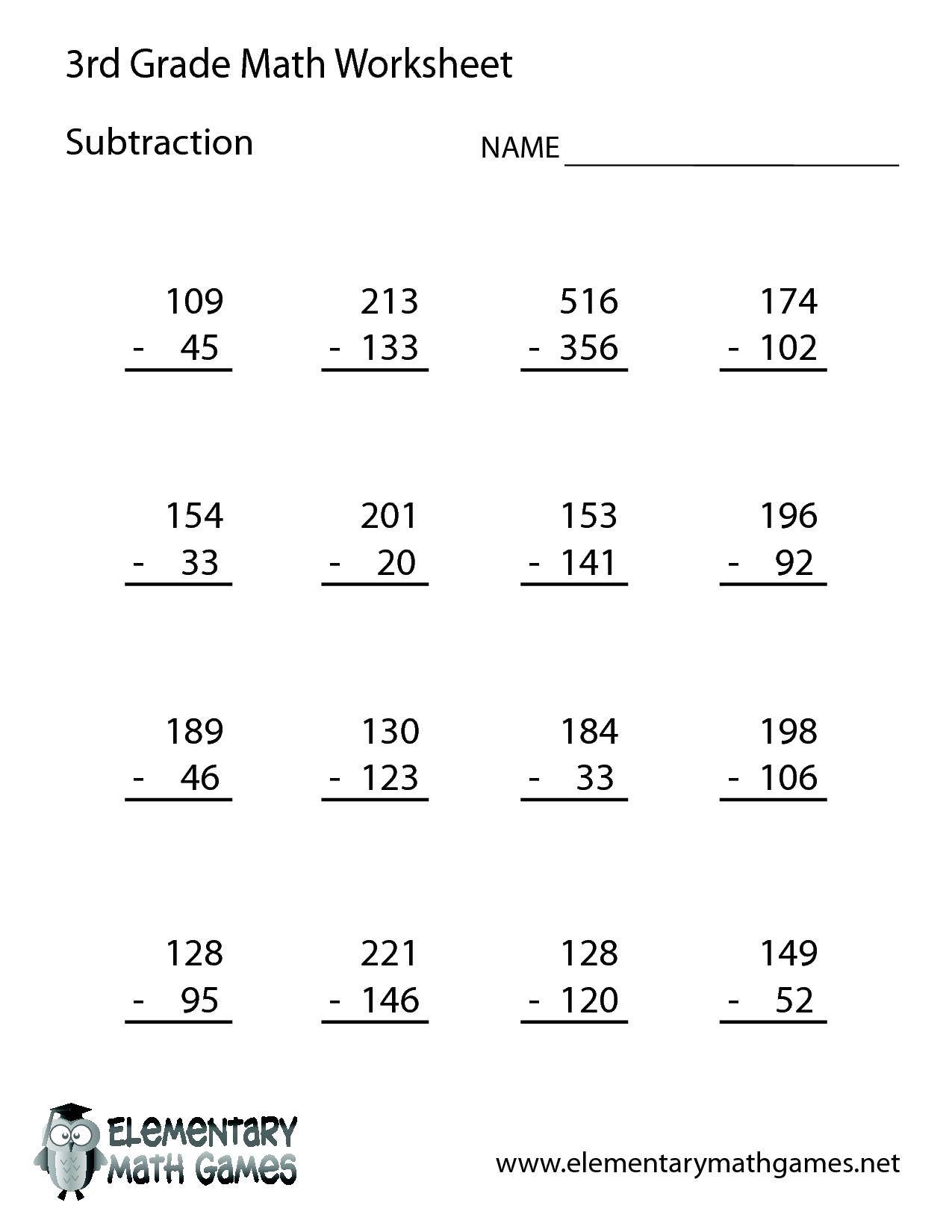 Тема Numbers / Maths 3 Кл (Читаємо Приклад Англійською) | Eglish For | 3Rd Grade Math Subtraction Printable Worksheets