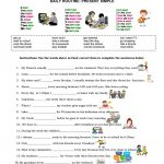 Daily Routine: Present Simple Worksheet   Free Esl Printable | Daily Routines Printable Worksheets