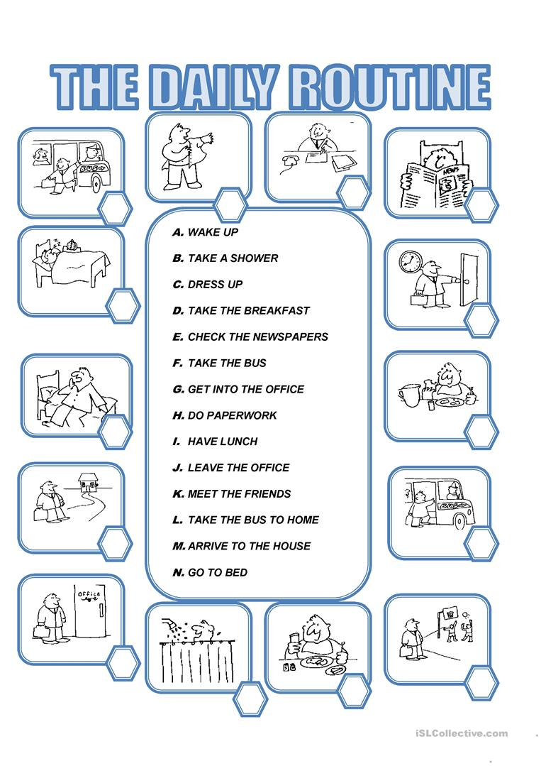 Daily Routine Worksheet - Free Esl Printable Worksheets Madeteachers | Daily Routines Printable Worksheets
