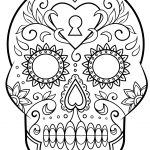 Day Of The Dead Sugar Skull Coloring Page   Free Printable   Free Printable Day Of The Dead Worksheets