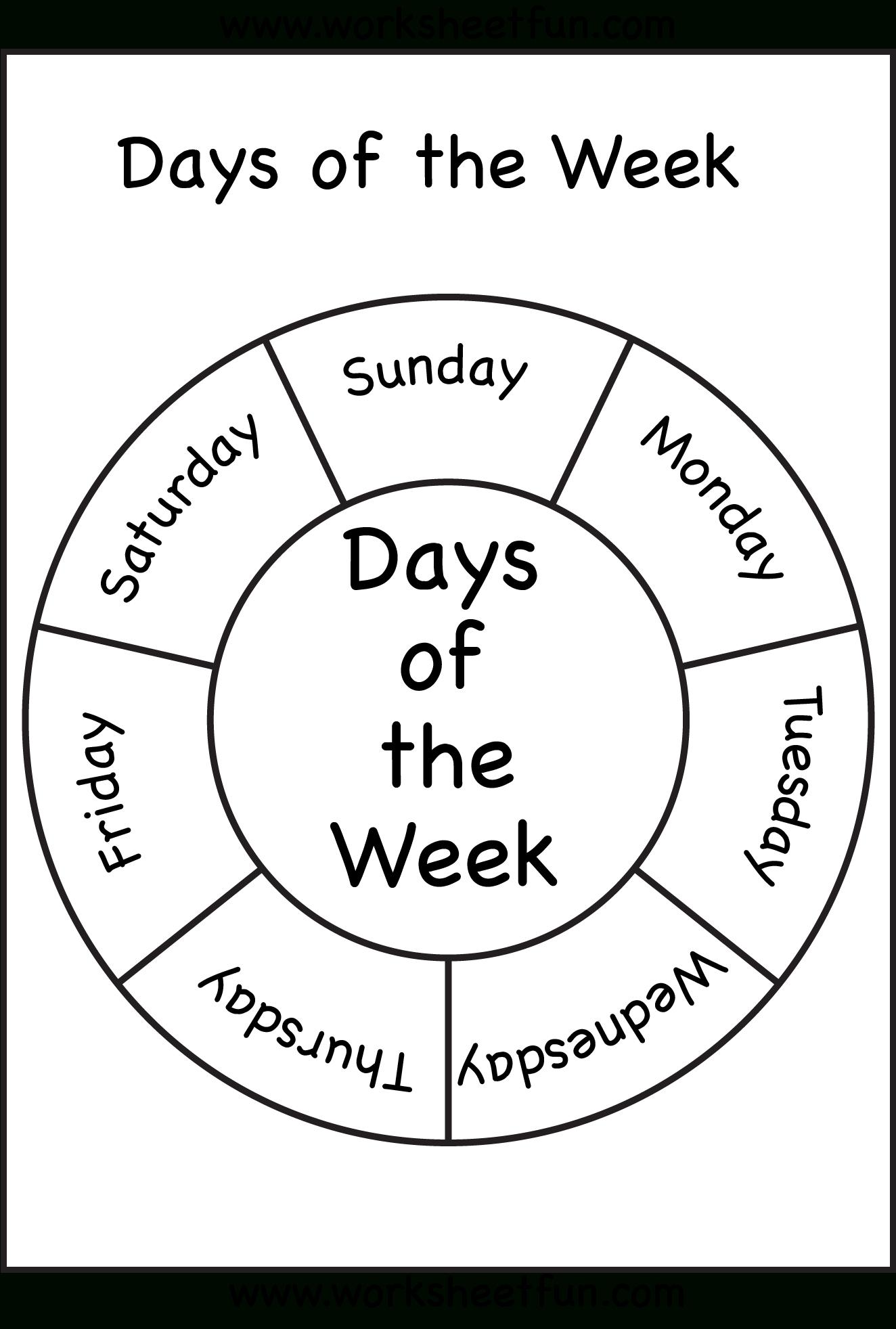 Days Of The Week   Days Of The Week!   Preschool, Preschool   Free Printable Kindergarten Days Of The Week Worksheets