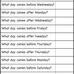 Days Of The Week – Worksheet / Free Printable Worksheets – Worksheetfun | Days Of The Week Printable Worksheets