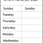 Days Of The Week Worksheet | Printable Worksheets | School | Days Of The Week Printable Worksheets