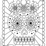 Dia De Los Muertos Coloring Page   Printable Coloring Pages   Doodle   Free Printable Day Of The Dead Worksheets