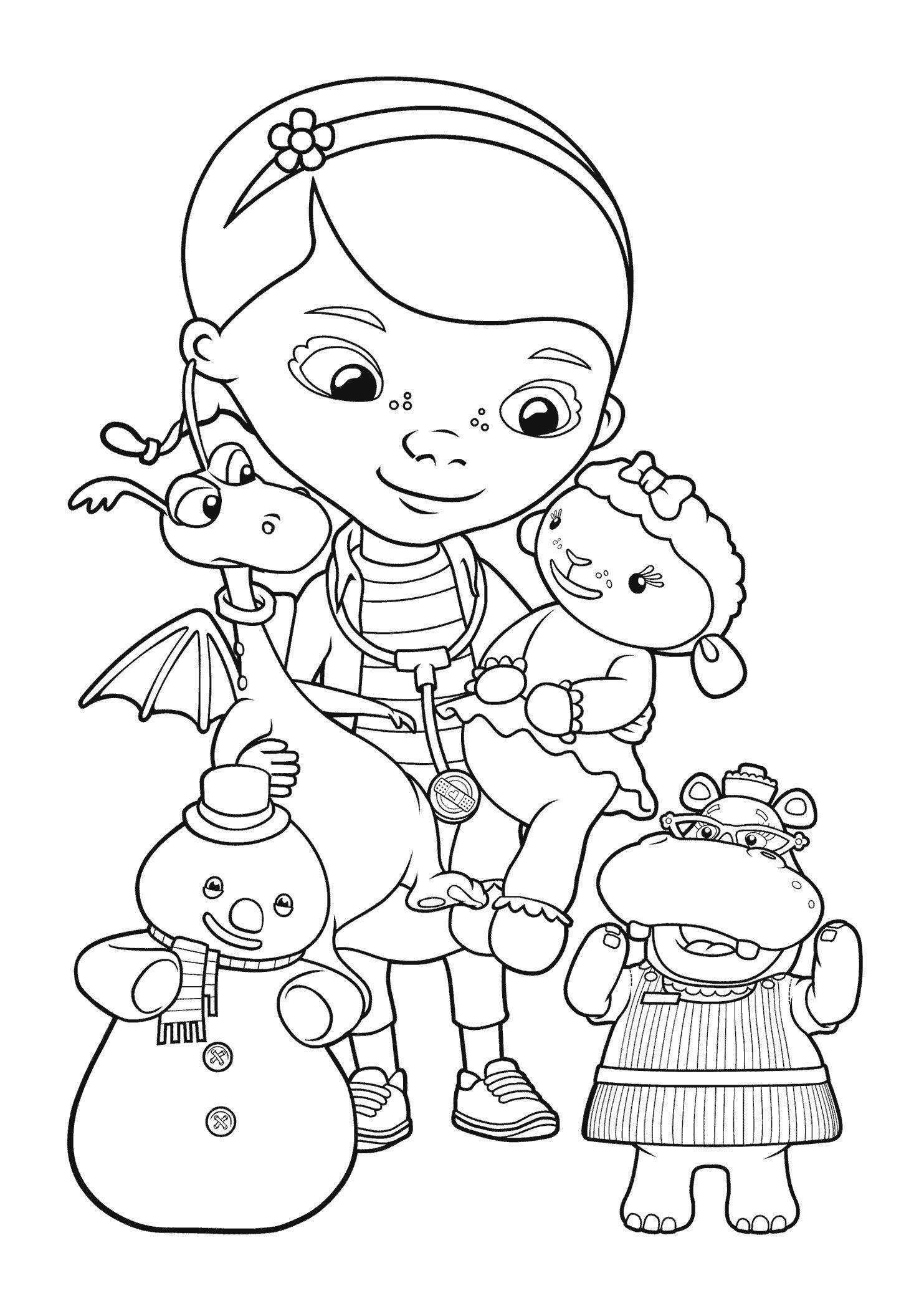Disney Coloring Pages Doc Mcstuffins   Coloring Pages   Doc   Doc Mcstuffins Printable Worksheets