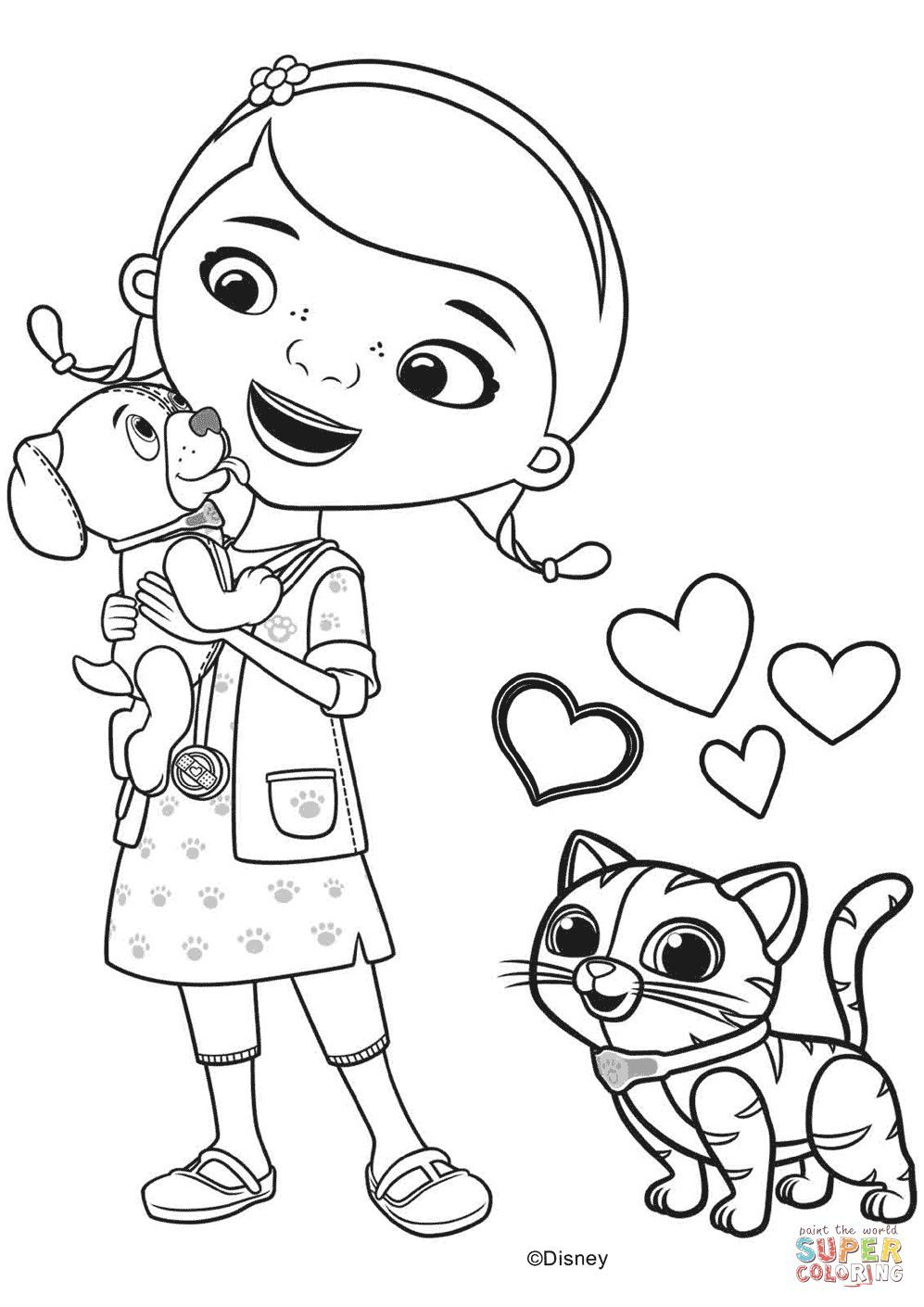 Doc Mcstuffins Coloring Page | Products I Love | Doc Mcstuffins | Doc Mcstuffins Printable Worksheets