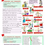 Double Comparatives Worksheet   Free Esl Printable Worksheets Made | Comparative Worksheets Printable