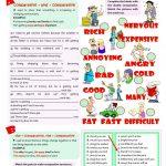 Double Comparatives Worksheet   Free Esl Printable Worksheets Made | Comparative Worksheets Printable