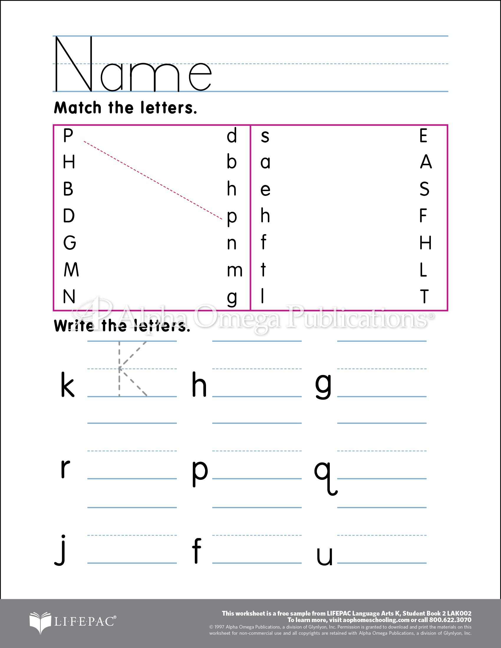 Download And Print A Free Curriculum Worksheet Sample Page From | Printable Worksheets For Head Start