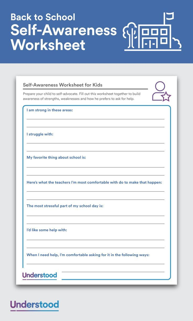 Download: Self-Awareness Worksheets For Kids | Feelings And Emotions | Emotional Intelligence Activities For Children Printable Worksheets