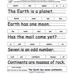 Earth Day Crafts Enchantedlearning.   Grade 1   Free Printable   Free Printable Scrambled Sentences Worksheets