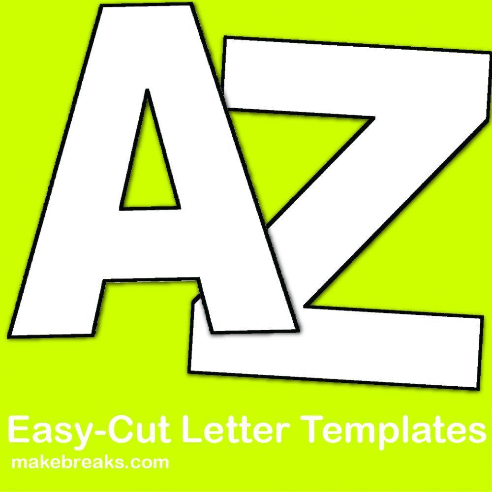 Easy Cut Letter Template | Crafts | Pinterest | Letter Templates | Free Printable Versatiles Worksheets