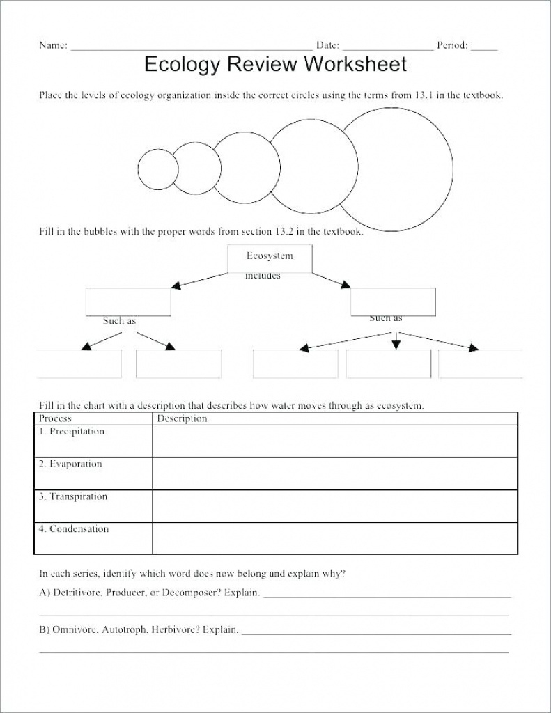 Ecology For Kids Worksheets – Derminelift Regarding Free Printable | Free Printable Biology Worksheets For High School