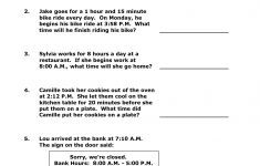 Elapsed Time Worksheets 3Rd Grade To Learning – Math Worksheet For | Free Printable Elapsed Time Worksheets For Grade 3