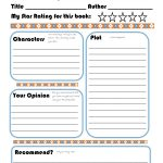 Elementary Book Report Template On Book Report Worksheet Printable | Book Report Printable Worksheets