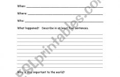 English Worksheets: Current Events | Current Events Printable Worksheet