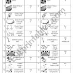 English Worksheets: Farm Animal Barrier Game | Printable Barrier Games Worksheets