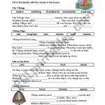 English Worksheets: Viking Cloze | Viking Worksheets Printable