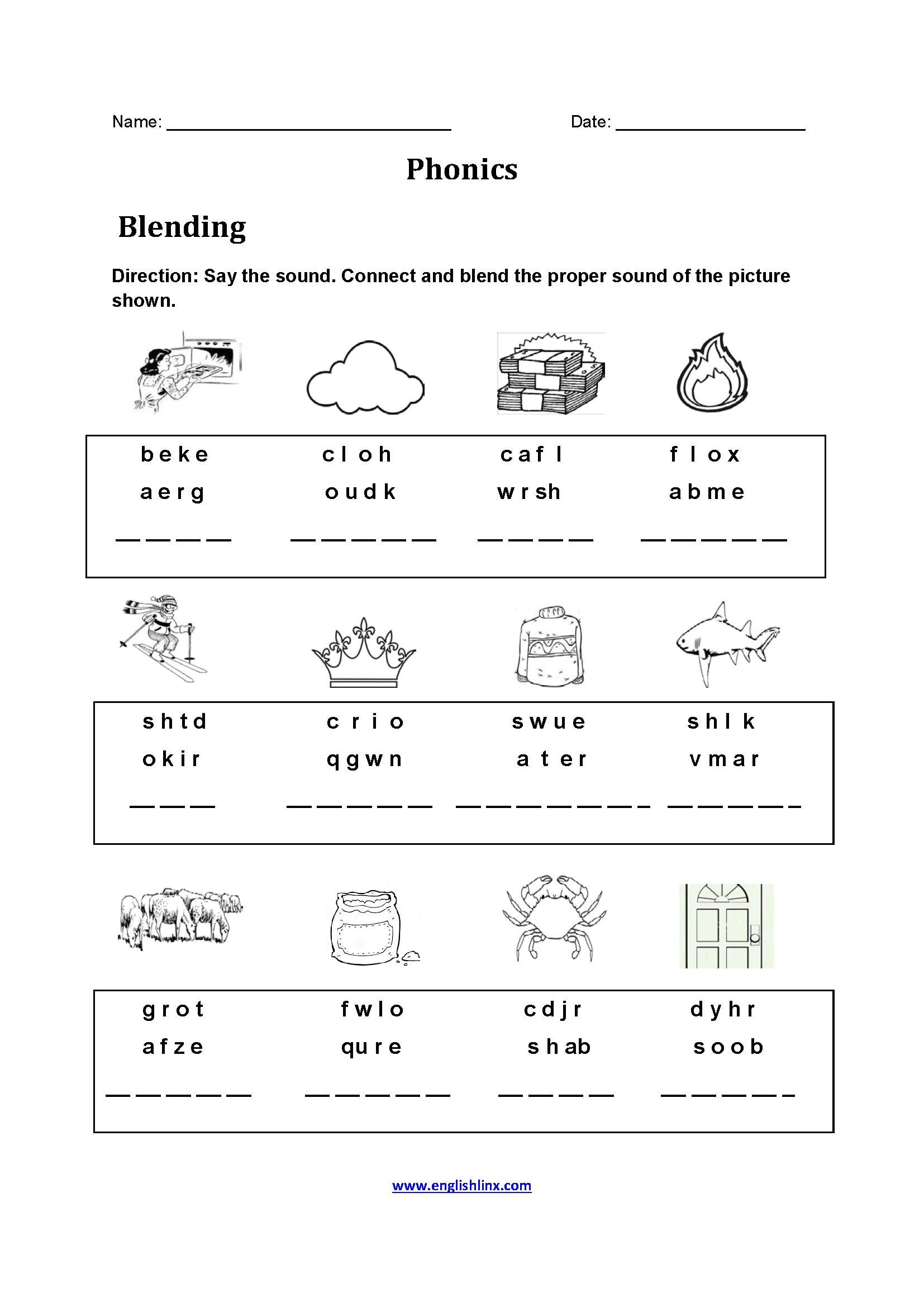 Englishlinx | Phonics Worksheets | Printable Phonics Worksheets