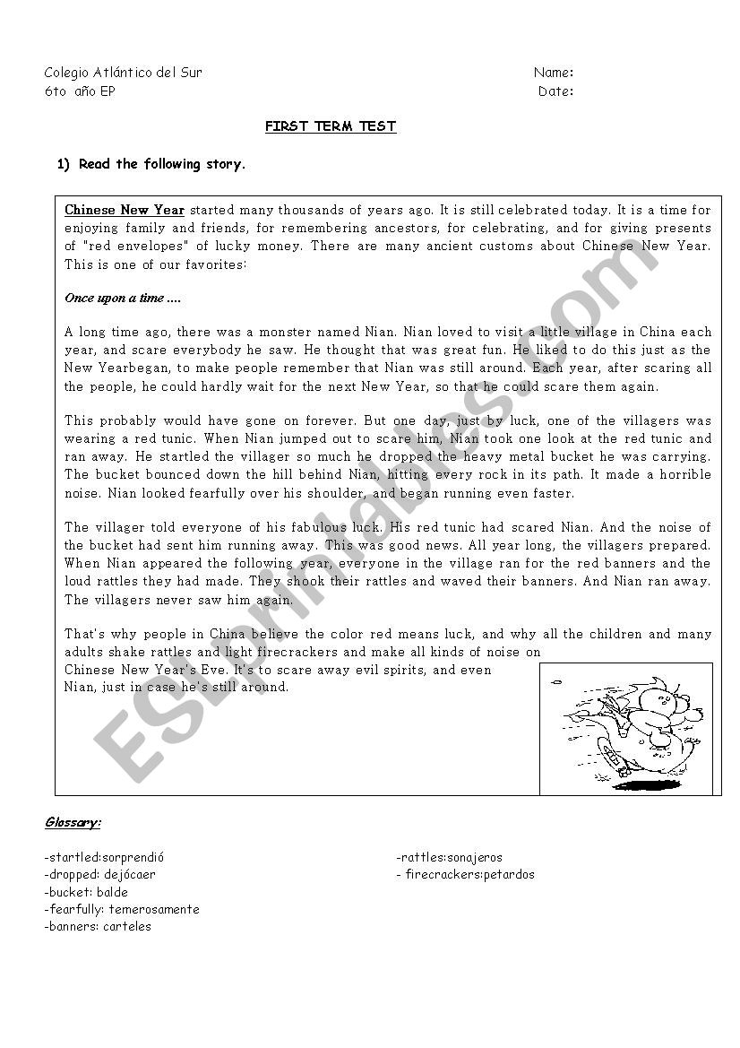 Exam For Primary School - Esl Worksheetchadito | Primary 1 Chinese Worksheets Printables