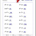 Exponents Worksheets | 5Th Grade Exponents Printable Worksheets