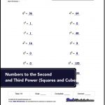 Exponents Worksheets For Numbers To The Second And Third Power   Free Printable Exponent Worksheets
